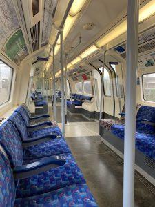 Tube train, London